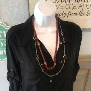 Lucky Brand Double Strand Beaded Necklace